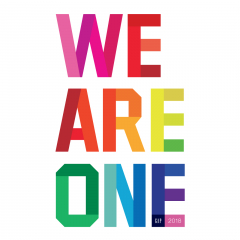 """Release is the best in Gap stores of the whole country in PRIDE T-shirt """"WE ARE ONE""""..."""
