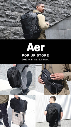 Aer POP UP STORE open!!!