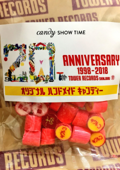 [candy of the 20th anniversary of Tower Records Shinjuku store]
