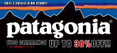 patagonia CLEARANCE スタート!!
